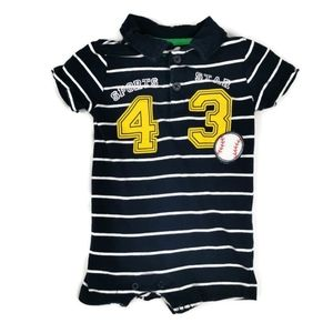 Collared Shorts Romper 3-6m